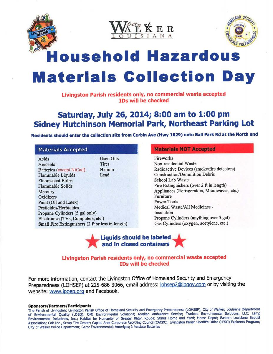 hazardous material flyer